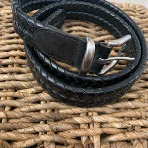 Coach men's size 38 braided black leather belt